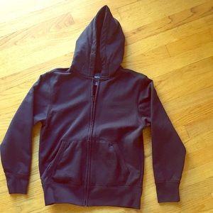 Navy blue Gap kids zip up hoodie.